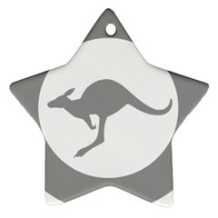 Low Visibility Roundel Of The Australian Air Force Star Ornament (two Sides) by abbeyz71