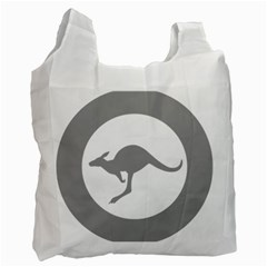 Low Visibility Roundel Of The Australian Air Force Recycle Bag (one Side) by abbeyz71