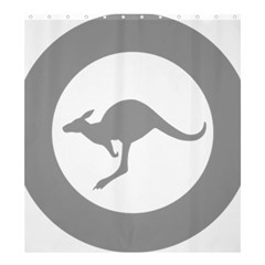 Low Visibility Roundel Of The Australian Air Force Shower Curtain 66  X 72  (large)  by abbeyz71