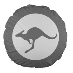 Low Visibility Roundel Of The Australian Air Force Large 18  Premium Round Cushions by abbeyz71