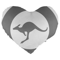 Low Visibility Roundel Of The Australian Air Force Large 19  Premium Heart Shape Cushions by abbeyz71