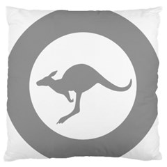 Low Visibility Roundel Of The Australian Air Force Large Flano Cushion Case (two Sides) by abbeyz71