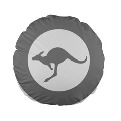 Low Visibility Roundel Of The Australian Air Force Standard 15  Premium Flano Round Cushions by abbeyz71