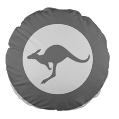 Low Visibility Roundel Of The Australian Air Force Large 18  Premium Flano Round Cushions by abbeyz71