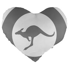 Low Visibility Roundel Of The Australian Air Force Large 19  Premium Flano Heart Shape Cushions by abbeyz71