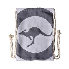 Low Visibility Roundel Of The Australian Air Force Drawstring Bag (small) by abbeyz71