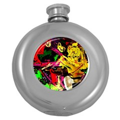 Spooky Attick 1 Round Hip Flask (5 Oz) by bestdesignintheworld