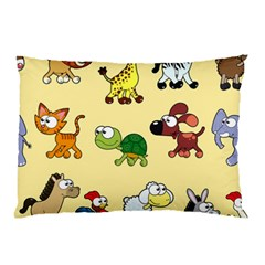 Group Of Animals Graphic Pillow Case (two Sides) by Sapixe
