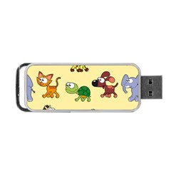 Group Of Animals Graphic Portable Usb Flash (two Sides)