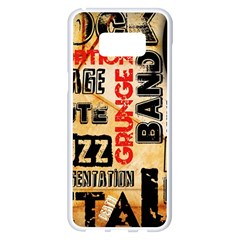 Guitar Typography Samsung Galaxy S8 Plus White Seamless Case by Sapixe