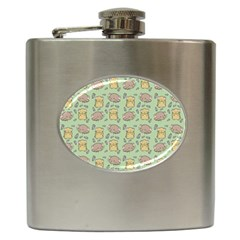Hamster Pattern Hip Flask (6 Oz) by Sapixe