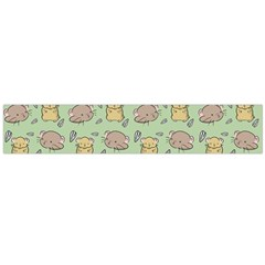 Hamster Pattern Large Flano Scarf