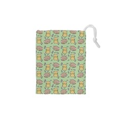 Hamster Pattern Drawstring Pouches (xs)  by Sapixe