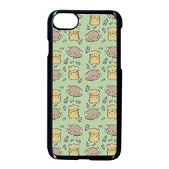 Hamster Pattern Apple Iphone 8 Seamless Case (black)