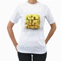 Gold Bars Feingold Bank Women s T Shirt (white) (two Sided)