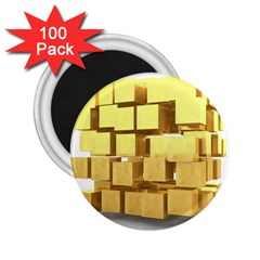 Gold Bars Feingold Bank 2 25  Magnets (100 Pack)