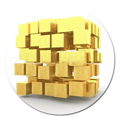Gold Bars Feingold Bank Magnet 5  (round)