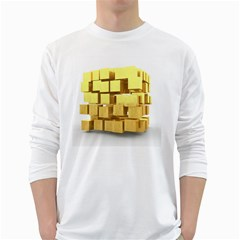 Gold Bars Feingold Bank White Long Sleeve T-shirts