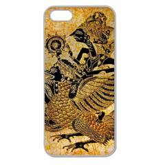 Golden Colorful The Beautiful Of Art Indonesian Batik Pattern Apple Seamless Iphone 5 Case (clear) by Sapixe