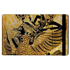 Golden Colorful The Beautiful Of Art Indonesian Batik Pattern Apple Ipad 2 Flip Case by Sapixe