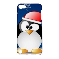 Happy Holidays Christmas Card With Penguin Apple Ipod Touch 5 Hardshell Case by Sapixe