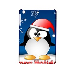 Happy Holidays Christmas Card With Penguin Ipad Mini 2 Hardshell Cases by Sapixe