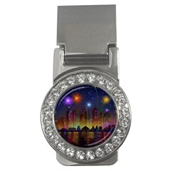Happy Birthday Independence Day Celebration In New York City Night Fireworks Us Money Clips (cz)  by Sapixe