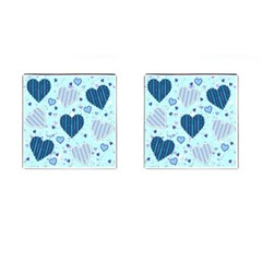Hearts Pattern Paper Wallpaper Cufflinks (square)
