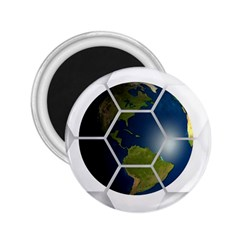 Hexagon Diamond Earth Globe 2 25  Magnets by Sapixe