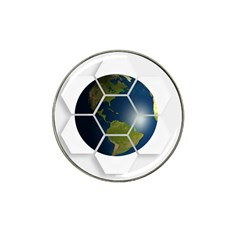 Hexagon Diamond Earth Globe Hat Clip Ball Marker (4 Pack)