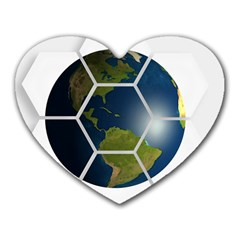 Hexagon Diamond Earth Globe Heart Mousepads by Sapixe