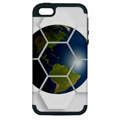 Hexagon Diamond Earth Globe Apple Iphone 5 Hardshell Case (pc+silicone)