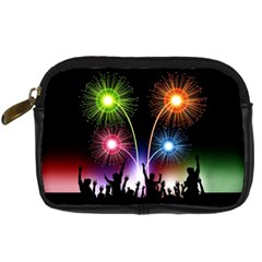 Happy New Year 2017 Celebration Animated 3d Digital Camera Cases by Sapixe