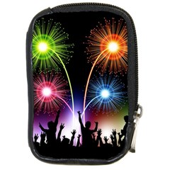 Happy New Year 2017 Celebration Animated 3d Compact Camera Cases by Sapixe