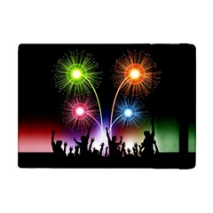 Happy New Year 2017 Celebration Animated 3d Apple Ipad Mini Flip Case by Sapixe