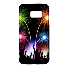 Happy New Year 2017 Celebration Animated 3d Samsung Galaxy S7 Hardshell Case