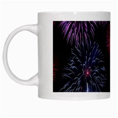 Happy New Year New Years Eve Fireworks In Australia White Mugs