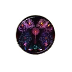 Happy New Year New Years Eve Fireworks In Australia Hat Clip Ball Marker