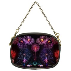 Happy New Year New Years Eve Fireworks In Australia Chain Purses (two Sides)