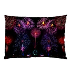Happy New Year New Years Eve Fireworks In Australia Pillow Case by Sapixe