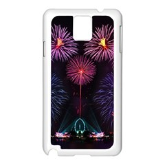 Happy New Year New Years Eve Fireworks In Australia Samsung Galaxy Note 3 N9005 Case (white) by Sapixe