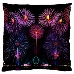 Happy New Year New Years Eve Fireworks In Australia Standard Flano Cushion Case (one Side) by Sapixe