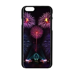 Happy New Year New Years Eve Fireworks In Australia Apple Iphone 6/6s Black Enamel Case