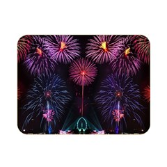 Happy New Year New Years Eve Fireworks In Australia Double Sided Flano Blanket (mini)  by Sapixe