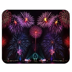 Happy New Year New Years Eve Fireworks In Australia Double Sided Flano Blanket (medium)