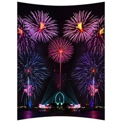 Happy New Year New Years Eve Fireworks In Australia Back Support Cushion by Sapixe