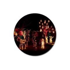 Holiday Lights Christmas Yard Decorations Magnet 3  (round)