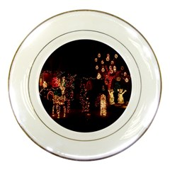 Holiday Lights Christmas Yard Decorations Porcelain Plates by Sapixe