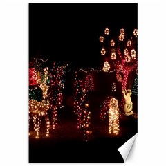 Holiday Lights Christmas Yard Decorations Canvas 12  X 18   by Sapixe