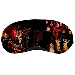 Holiday Lights Christmas Yard Decorations Sleeping Masks by Sapixe